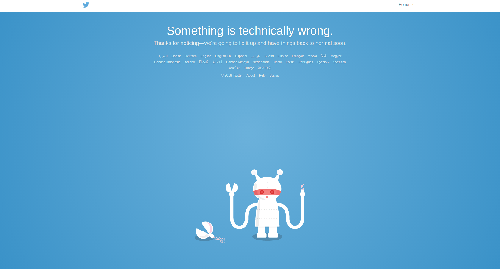 twitter is down again